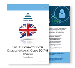 UK Contact Centre Decision-Makers' Guide 2017/2018
